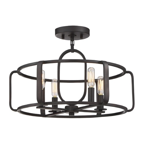 Savoy House Savoy House Lighting Santina English Bronze Semi-Flushmount Light 6-1182-4-13