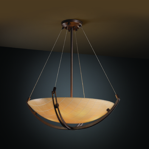 Justice Design Group Justice Design Group Crossbar Family Dark Bronze Pendant Light 3FRM-9722-35-TAKE-DBRZ