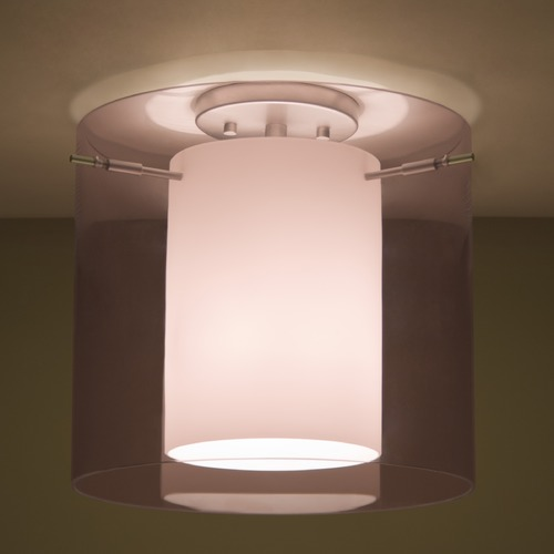 Besa Lighting Besa Lighting Pahu Satin Nickel Semi-Flushmount Light 1KM-A18407-SN
