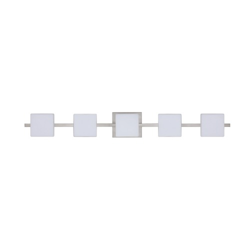 Besa Lighting Besa Lighting Alex Satin Nickel LED Bathroom Light 5WS-773507-LED-SN