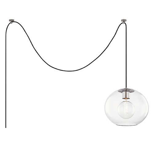 Mitzi by Hudson Valley Mitzi By Hudson Valley Margot Polished Nickel Swag Light with Globe Shade HL270701L-PN