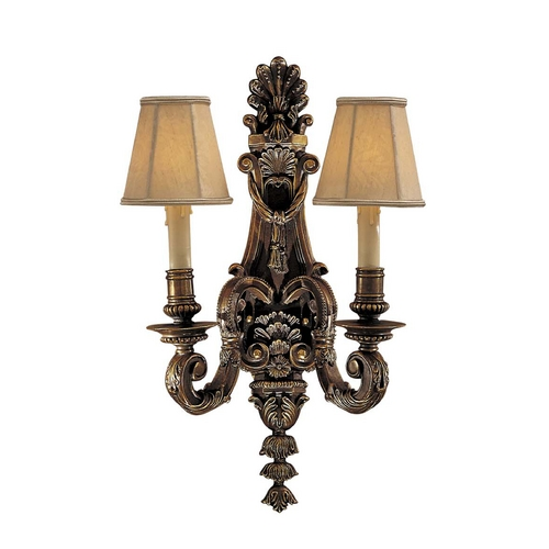 Metropolitan Lighting Old World Sconce Wall Light in Brass Finish - Shades Not Included N2420-49