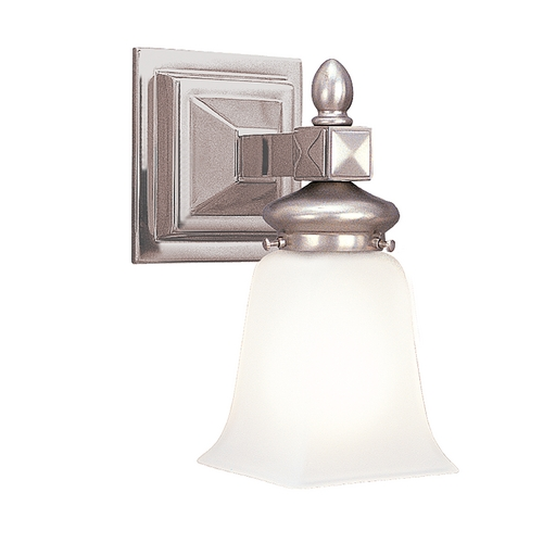 Hudson Valley Lighting Sconce with White Glass in Satin Nickel Finish 2821-SN
