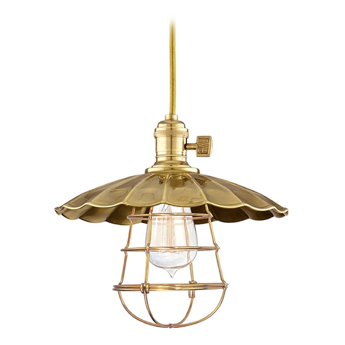 Hudson Valley Lighting Mini-Pendant Light 8001-AGB-MS2-WG