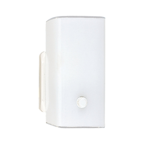 Sea Gull Lighting Sconce Wall Light with White Glass in White Finish 4449-15