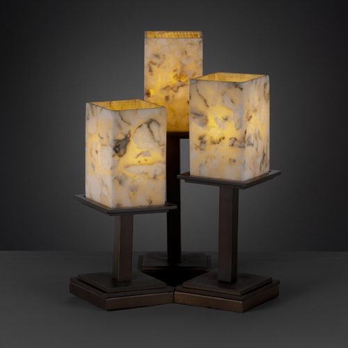 Justice Design Group Justice Design Group Alabaster Rocks! Collection Table Lamp ALR-8697-15-DBRZ