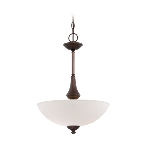 Nuvo Lighting Pendant Light with White Glass in Prairie Bronze Finish 60/5158