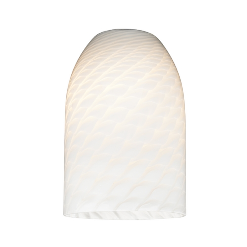 Design Classics Lighting White Art Glass Shade - Lipless with 1-5/8-Inch Fitter Opening GL1020D