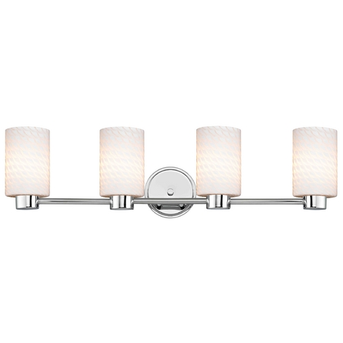 Design Classics Lighting Design Classics Aon Fuse Chrome Bathroom Light 1804-26 GL1020C
