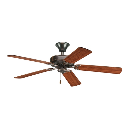 Progress Lighting Progress Ceiling Fan Without Light in Antique Bronze Finish P2501-20