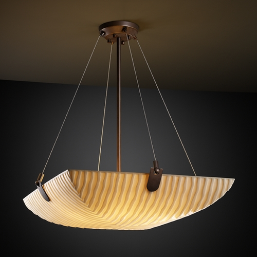 Justice Design Group Justice Design Group Porcelina Collection Pendant Light PNA-9621-25-WFAL-DBRZ