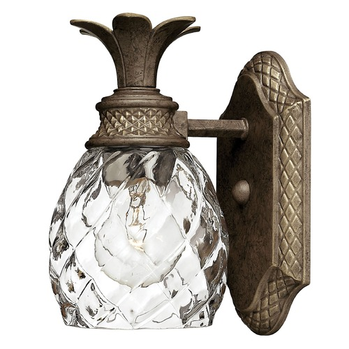 Hinkley Lighting Sconce with Clear Glass in Pearl Bronze Finish 5310PZ