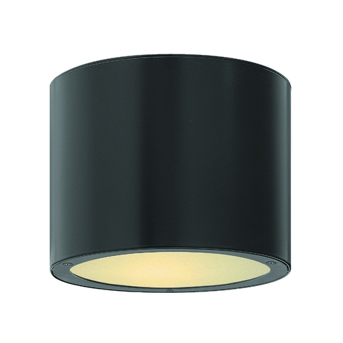 Hinkley Lighting Modern Close To Ceiling Light with Etched in Satin Black Finish 1663SK