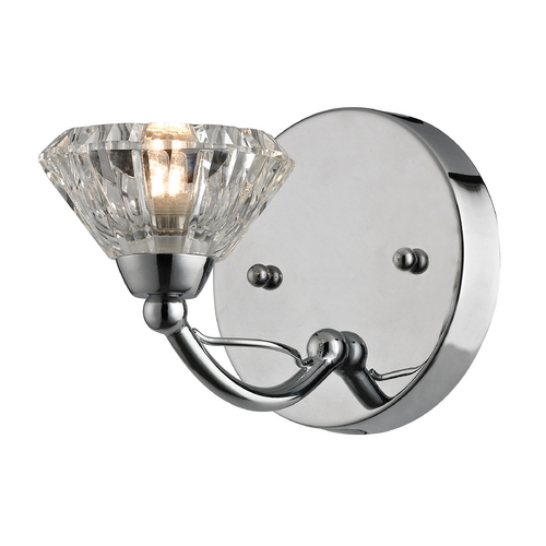 Elk Lighting Modern Sconce Wall Light with Clear Glass in Polished Chrome Finish 46145/1