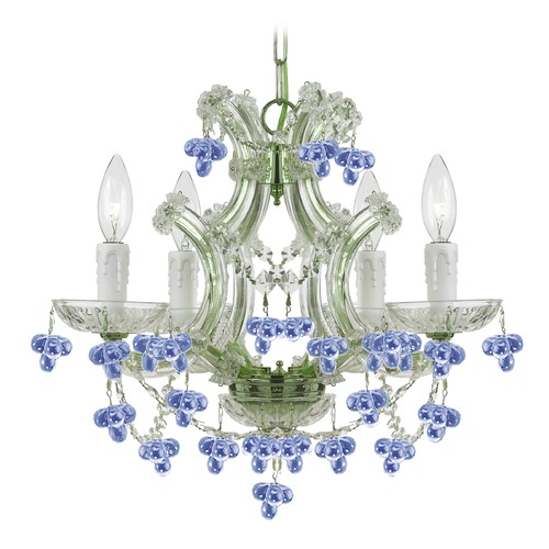 Crystorama Lighting Crystorama Lighting Hot Deal Chrome Crystal Chandelier 4474-CH-BLUE