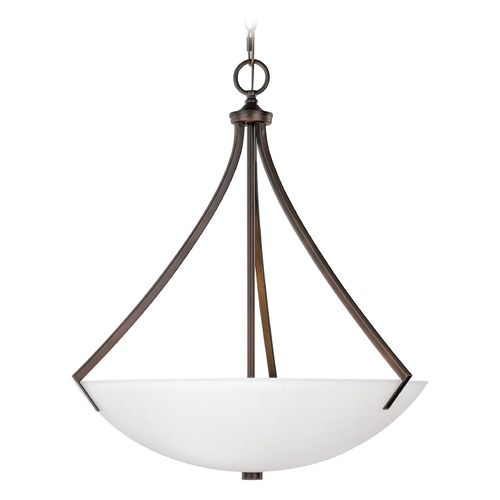 Capital Lighting Capital Lighting Stanton Burnished Bronze Pendant Light with Bowl / Dome Shade 4038BB-SW