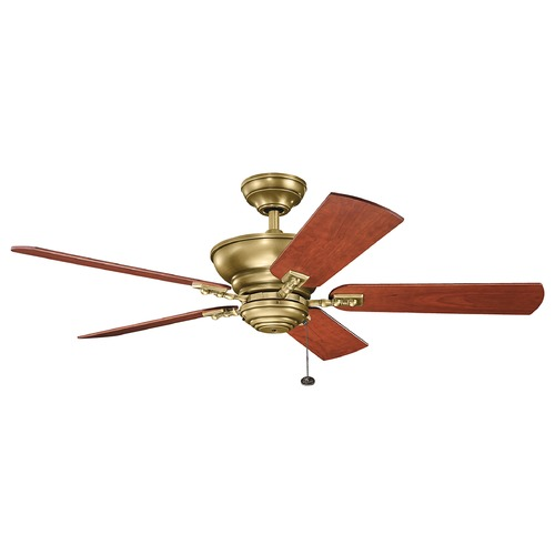 Kichler Lighting Kichler Lighting Graystone Natural Brass Ceiling Fan Without Light 300243NBR