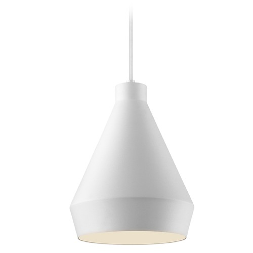 Sonneman Lighting Sonneman Koma Satin White Mini-Pendant Light with Conical Shade 2750.03-E