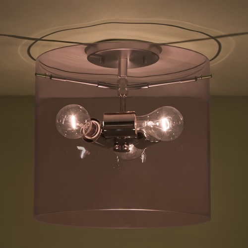 Besa Lighting Besa Lighting Pahu Satin Nickel Semi-Flushmount Light 1KM-A18407-SN-NI