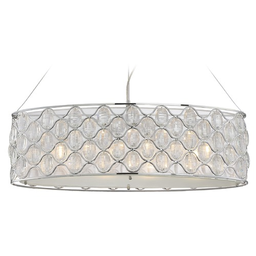 Savoy House Savoy House Lighting Opus Polished Chrome Island Light with Drum Shade 1-6065-4-11