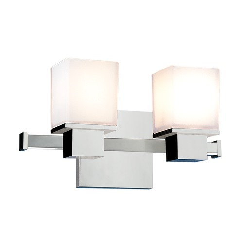 Hudson Valley Lighting Modern Bathroom Light with White Glass in Polished Chrome Finish 4442-PC
