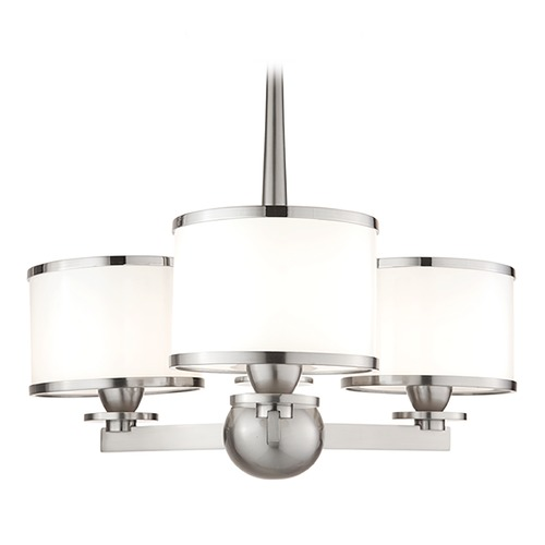 Hudson Valley Lighting Mini-Chandelier with White Glass in Satin Nickel Finish 6113-SN