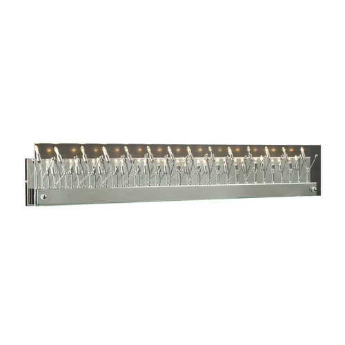 PLC Lighting Modern Bathroom Light with Clear Glass in Polished Chrome Finish 81644 PC