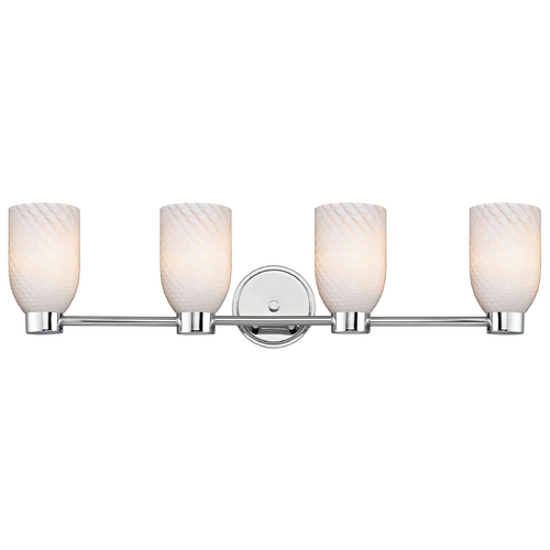 Design Classics Lighting Aon Fuse Chrome Bathroom Light 1804-26 GL1020D
