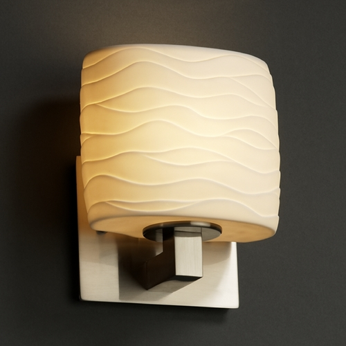 Justice Design Group Justice Design Group Limoges Collection Sconce POR-8931-30-WAVE-NCKL