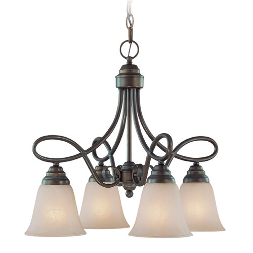 Jeremiah Lighting Jeremiah Cordova Old Bronze Mini-Chandelier 25024-OB