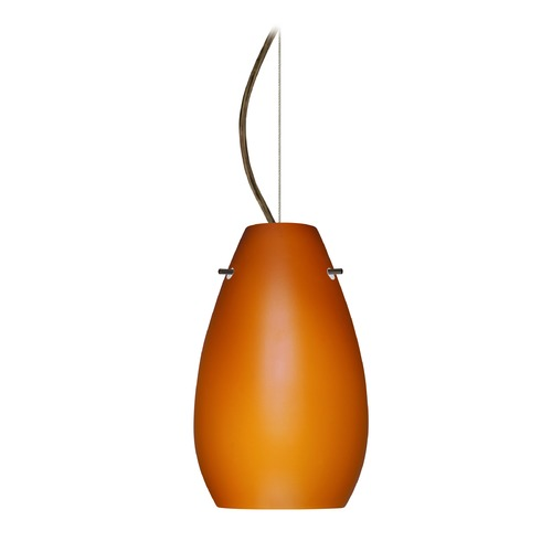 Besa Lighting Besa Lighting Pera Bronze LED Mini-Pendant Light 1KX-412680-LED-BR