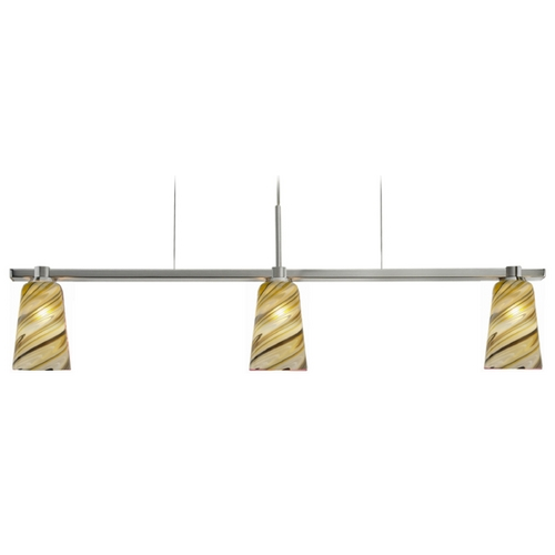 Oggetti Lighting Oggetti Lighting Carnivale Satin Nickel Island Light with Cylindrical Shade 22-343