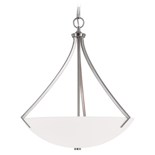 Capital Lighting Capital Lighting Stanton Brushed Nickel Pendant Light with Bowl / Dome Shade 4038BN