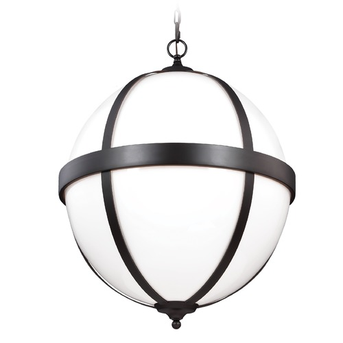 Feiss Lighting Feiss Lighting Amato Oil Rubbed Bronze Pendant Light with Globe Shade F3055/4ORB