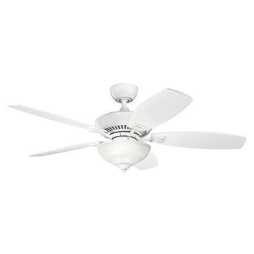 Kichler Lighting Kichler Lighting Canfield Pro Matte White Ceiling Fan with Light 337016MWH