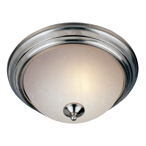 Maxim Lighting Flushmount Light with White Glass in Satin Nickel Finish 5842ICSN