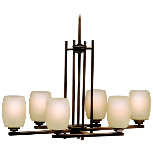 Kichler Lighting Kichler Chandelier with Beige / Cream Glass in Olde Bronze Finish 3898OZ