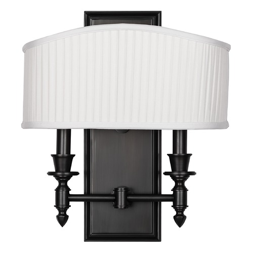 Hudson Valley Lighting Sconce Wall Light with White Shades in Old Bronze Finish 882-OB