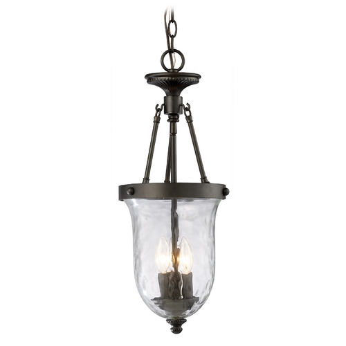 Elk Lighting Mini-Pendant Light with CLear Water Glass 66310-3