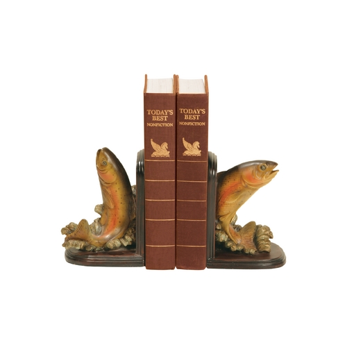 Sterling Lighting Rainbow Trout Decorative Bookends.  91-4653
