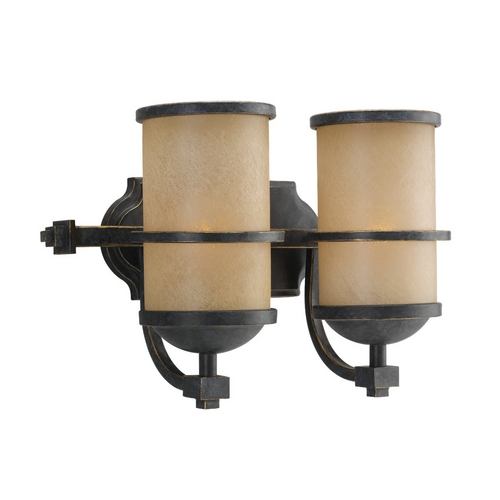 Sea Gull Lighting Nautical Style Bathroom Light in Bronze with Two Lights 44521-845