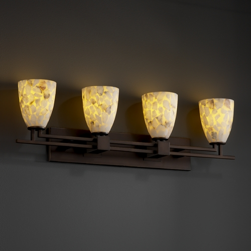 Justice Design Group Justice Design Group Alabaster Rocks! Collection Bathroom Light ALR-8704-18-DBRZ