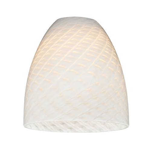 Design Classics Lighting White Art Glass Shade - Lipless with 1-5/8-Inch Fitter Opening GL1020MB