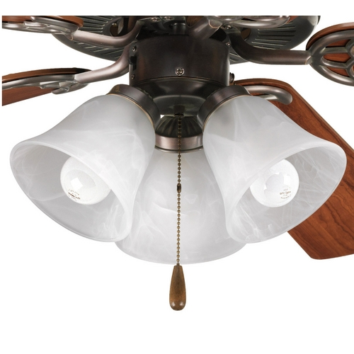 Progress Lighting Progress Light Kit with Alabaster Glass in Antique Bronze Finish P2600-20
