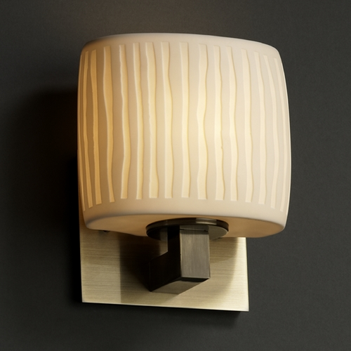Justice Design Group Justice Design Group Limoges Collection Sconce POR-8931-30-WFAL-ABRS