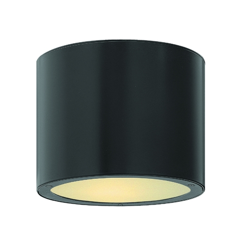Hinkley Lighting Modern LED Close To Ceiling Light with Etched in Satin Black Finish 1663SK-LED