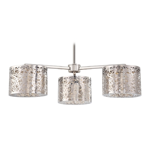 George Kovacs Lighting Modern LED Chandelier in Chrome Finish P983-077-L