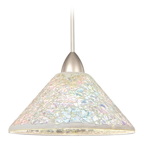 WAC Lighting Wac Lighting Artisan Collection Brushed Nickel LED Mini-Pendant with Coolie Shade MP-LED559-DIC/BN
