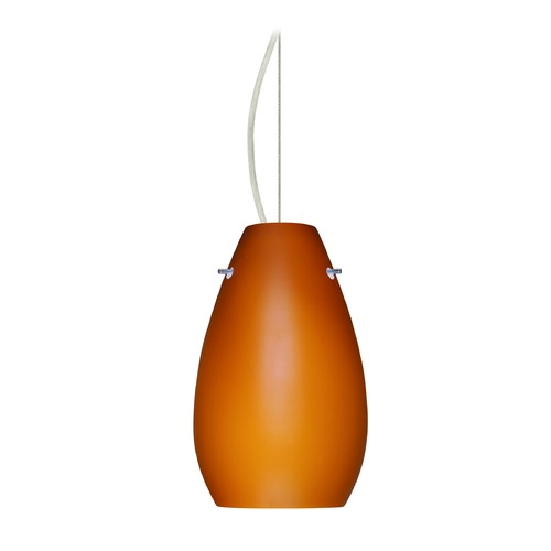 Besa Lighting Besa Lighting Pera Satin Nickel LED Mini-Pendant Light 1KX-412680-LED-SN