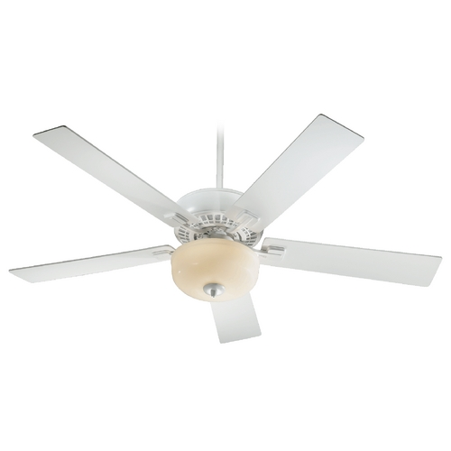 Quorum Lighting Quorum Lighting Rothman Studio White Ceiling Fan with Light 73525-908